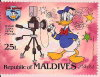 Maldives. Donald se photographiant. (1984)., - (PHI0369)