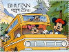 "Bhoutan. Mickey, Dingo, Minnie - Disney. (1991)., ""The alcan highway in Alaska & Canada"" (PHI0477)"